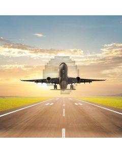 The Plane Computer Printed Photography Backdrop LMG-359