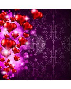 Romantic Heart Shape Computer Printed Photography Backdrop LMG-388