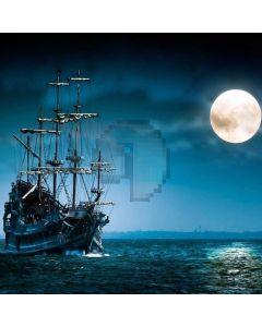 Moon Night Sea Boat Dark Clouds Computer Printed Photography Backdrop LMG-702
