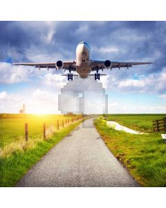 Airplane Road Computer Printed Photography Backdrop LMG-914