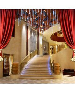 Stairs Curtain Interior Computer Printed Photography Backdrop MSL-099