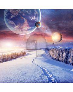 Snow Galaxy Fir Computer Printed Photography Backdrop MSL-178