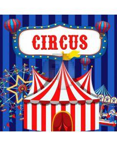 Circus Show Hot Air Balloon Whirl-Horse Computer Printed Photography Backdrop MSL-346