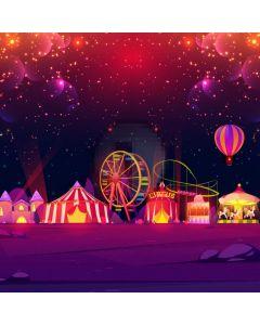 Circus Show Balloon Purple Computer Printed Photography Backdrop MSL-351