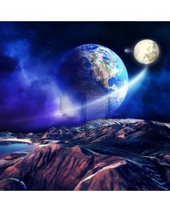 Universe Starring Night Mountain Computer Printed Photography Backdrop MSL-357