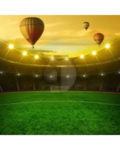 Sport Balloons Football Court Computer Printed Photography Backdrop MSL-394