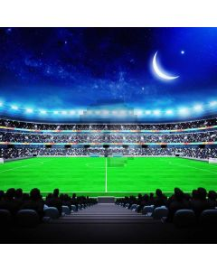 Sports Night Moon Audience Football Game Computer Printed Photography Backdrop MSL-399