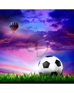 Sports Hot Air Balloon Sky Grass Computer Printed Photography Backdrop MSL-404