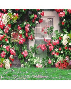 Flowers Garden  Computer Printed Photography Backdrop S-080