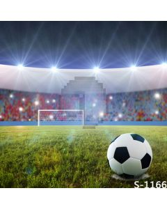 Football On Ground Computer Printed Photography Backdrop S-1166