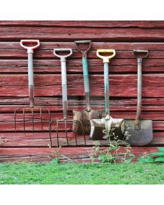 Farm Tools Computer Printed Photography Backdrop S-1373