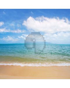 Seaside Computer Printed Photography Backdrop S-1796