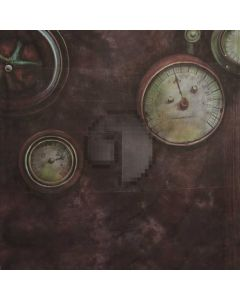 Clock Computer Printed Photography Backdrop S-1909
