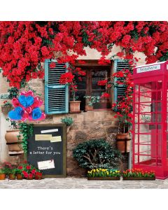 Telephone Booth Computer Printed Photography Backdrop S-208