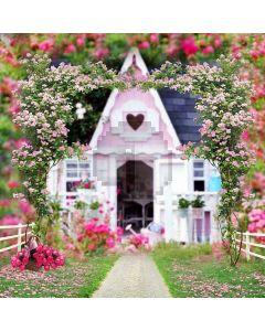 Flower Door Computer Printed Photography Backdrop S-221