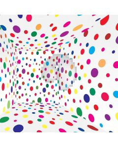 Colorful Points Computer Printed Photography Backdrop S-523