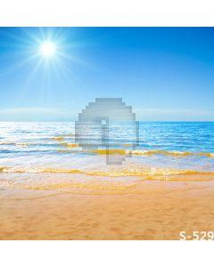 Sunny Beach Computer Printed Photography Backdrop S-529