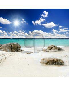 Beautiful Beach Computer Printed Photography Backdrop S-534