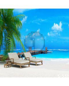 Tropical Resort Computer Printed Photography Backdrop S-538