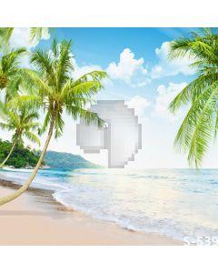 Tropical Beach Computer Printed Photography Backdrop S-539