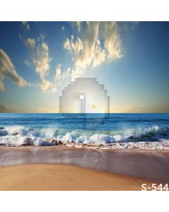 Magnificent Sea Computer Printed Photography Backdrop S-544
