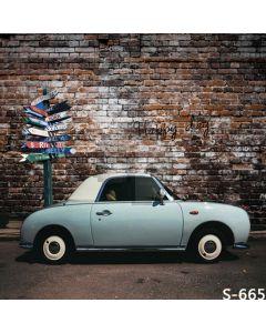 Retro Car Computer Printed Photography Backdrop S-665