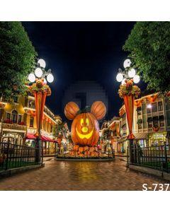Mickey Pumpkin Computer Printed Photography Backdrop S-737
