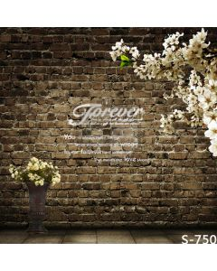 Lovely Brick Wall Computer Printed Photography Backdrop S-750