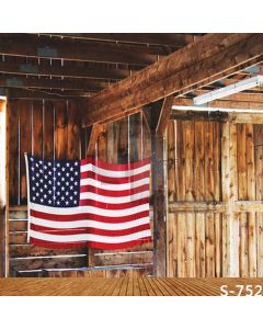 US Flag Computer Printed Photography Backdrop S-752