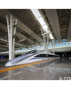 High-Speed Railway Computer Printed Photography Backdrop S-775