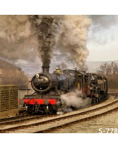 Retro Train On The Move Computer Printed Photography Backdrop S-778