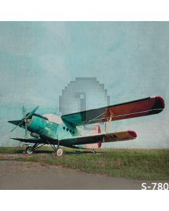 Retro Plane Computer Printed Photography Backdrop S-780