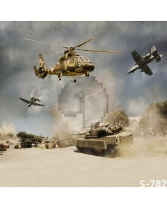 Tank And Fighters Computer Printed Photography Backdrop S-782
