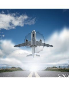 Take-Off Plane Computer Printed Photography Backdrop S-783