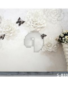 Butterfly And Flowers Computer Printed Photography Backdrop S-833