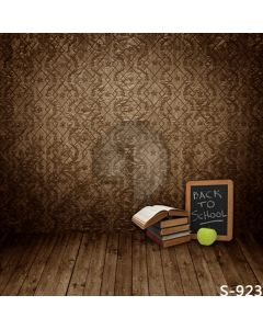 Books And Apple Computer Printed Photography Backdrop S-923