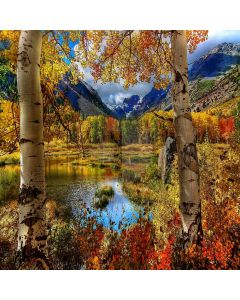 Autumn Mountains View Computer Printed Photography Backdrop XLX-036