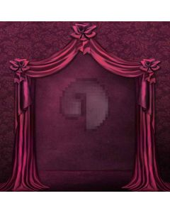 Purple Curtains  Computer Printed Photography Backdrop XLX-064