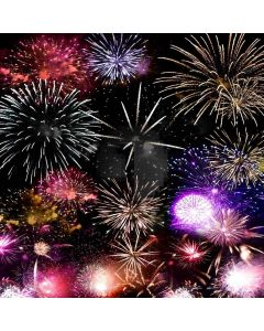 Brilliant Fireworks Computer Printed Photography Backdrop XLX-179