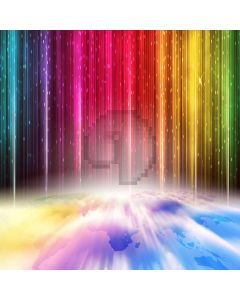 Colorful Lights Computer Printed Photography Backdrop XLX-205