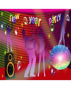 New Year Party  Computer Printed Photography Backdrop XLX-209
