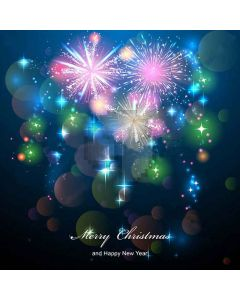 Colorful Fireworks Computer Printed Photography Backdrop XLX-217