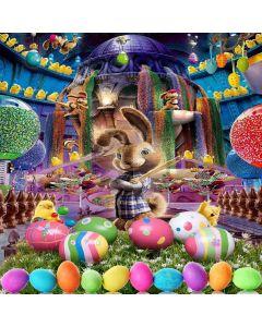 Funny Rabbit Computer Printed Photography Backdrop XLX-228