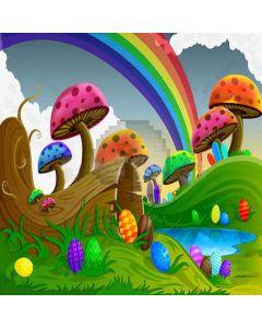 Mushroom Rainbow  Computer Printed Photography Backdrop XLX-238