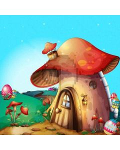 Lovely Mushroom Cabin Computer Printed Photography Backdrop XLX-245