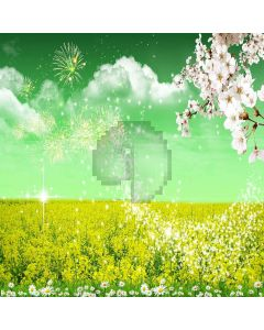 Wild Flower  Computer Printed Photography Backdrop XLX-254