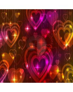 Charming Heart Pattern Computer Printed Photography Backdrop XLX-274