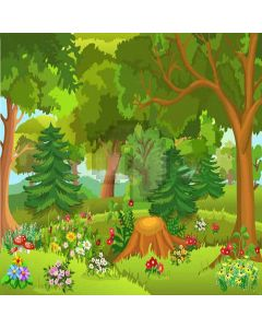 Rich Forest  Computer Printed Photography Backdrop XLX-299