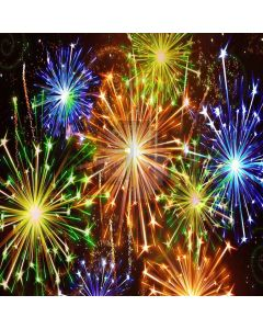 Brilliant Fireworks Computer Printed Photography Backdrop XLX-358