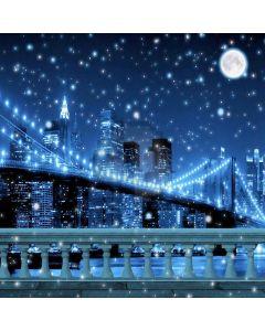 Romantic City Nightscape Computer Printed Photography Backdrop XLX-373